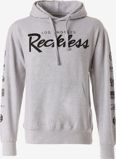 Young & Reckless Sweatshirt 'Circuit' in graumeliert / schwarz, Produktansicht