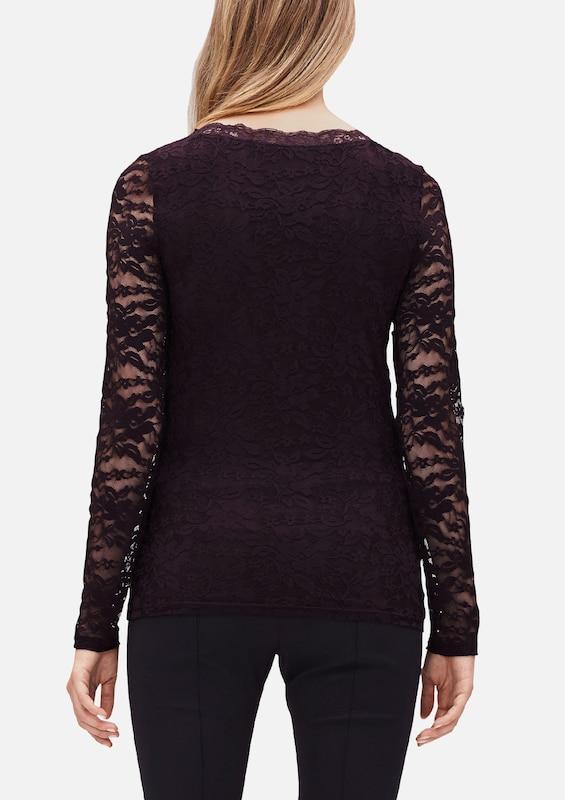 s.Oliver BLACK LABEL Spitzenshirt mit langen Ärmeln