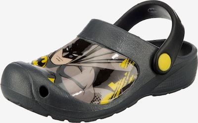 Batman Clogs in gelb / dunkelgrau / mischfarben: Frontalansicht
