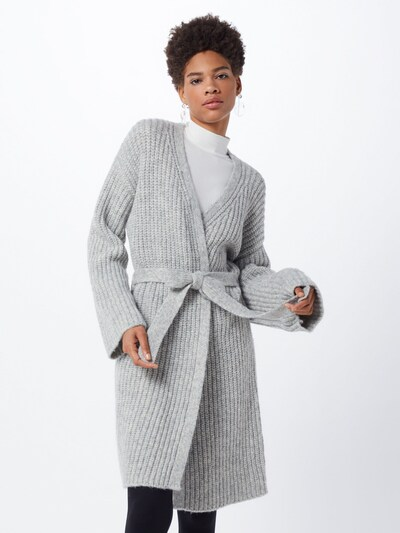 HUGO Cardigan 'Sabrity' en gris, Vue avec modèle