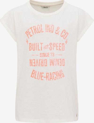 Petrol Industries T-Shirt in orange / weiß, Produktansicht