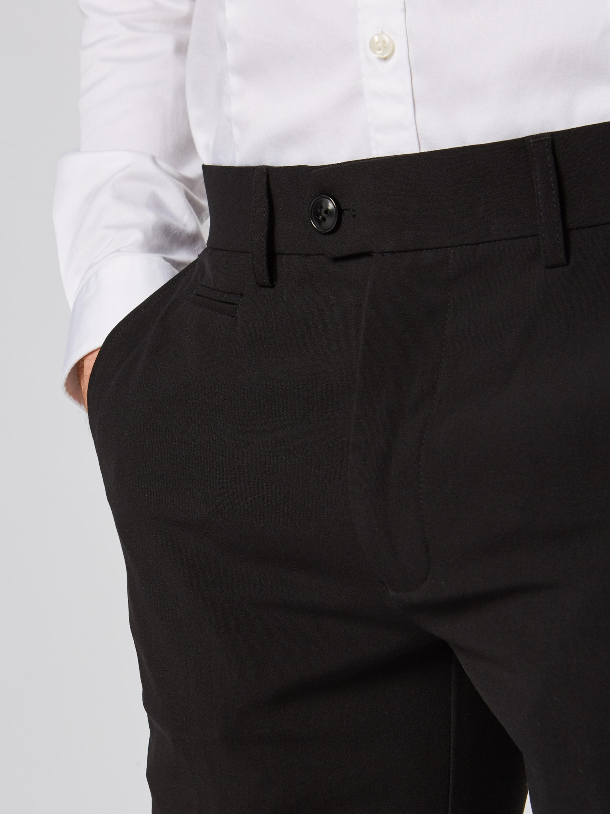 Lindbergh Pressveckad byxa 'Club pants' i svart