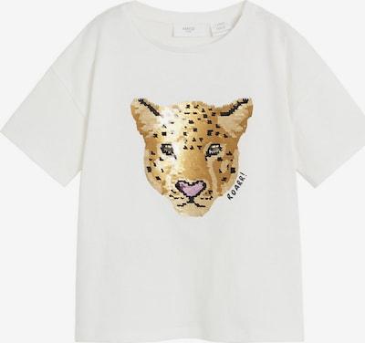MANGO KIDS T-Shirt 'WILD' in beige / braun / hellbraun / rosa / schwarz / weiß, Produktansicht