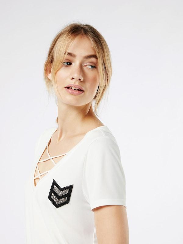 ONLY Shirt mit Schnürung 'onlMILI'