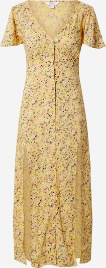 Miss Selfridge Kleid 'YELLOW BUTTON MIDI DRESS' in gelb, Produktansicht