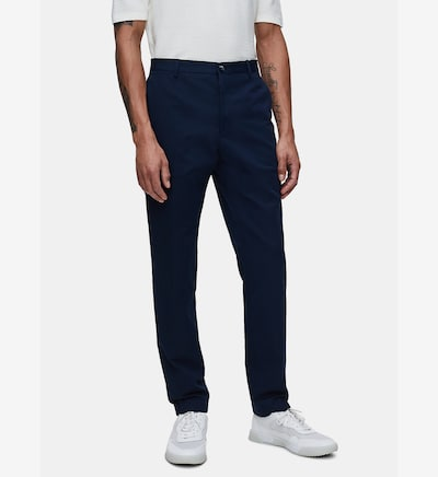 Calvin Klein Tapered Cotton Linen Trousers ' ' in blau, Modelansicht