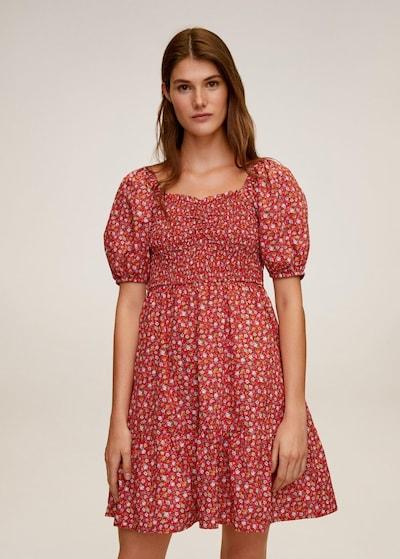 MANGO Kleid 'Chenai' in mischfarben / rot, Modelansicht
