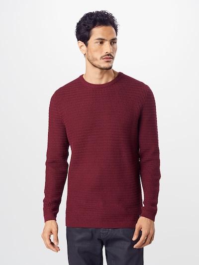 Megztinis iš TOM TAILOR DENIM , spalva - vyno raudona spalva: Vaizdas iš priekio