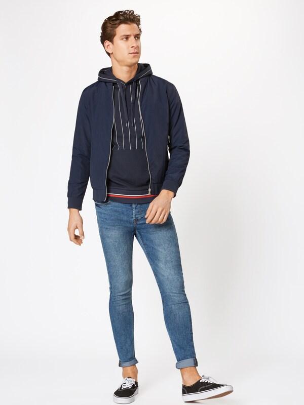 shirt FoncéBlanc En Jackamp; 'pinstripe' Bleu Sweat Jones rdxCshtQBo