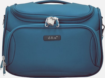 D&N Make up tas 'Travel Line 6400' in de kleur Petrol, Productweergave