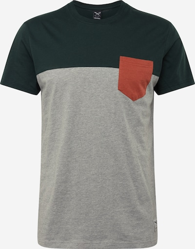 Iriedaily T-Shirt in hellgrau / dunkelgrün, Produktansicht