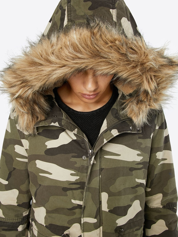 Review Parka im Camouflage Look