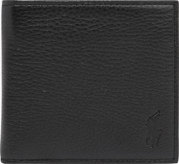 Polo Ralph Lauren Портмоне 'PEBBLE LEATHER-EU BILL W/ C-WLT-SML' в черно