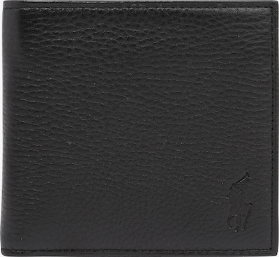 POLO RALPH LAUREN Porte-monnaies 'PEBBLE LEATHER-EU BILL W/ C-WLT-SML' en noir, Vue avec produit