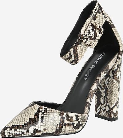 Public Desire Cipele s potpeticom i otvorenom petom 'TORI' u bež / smeđa / crna, Pregled proizvoda