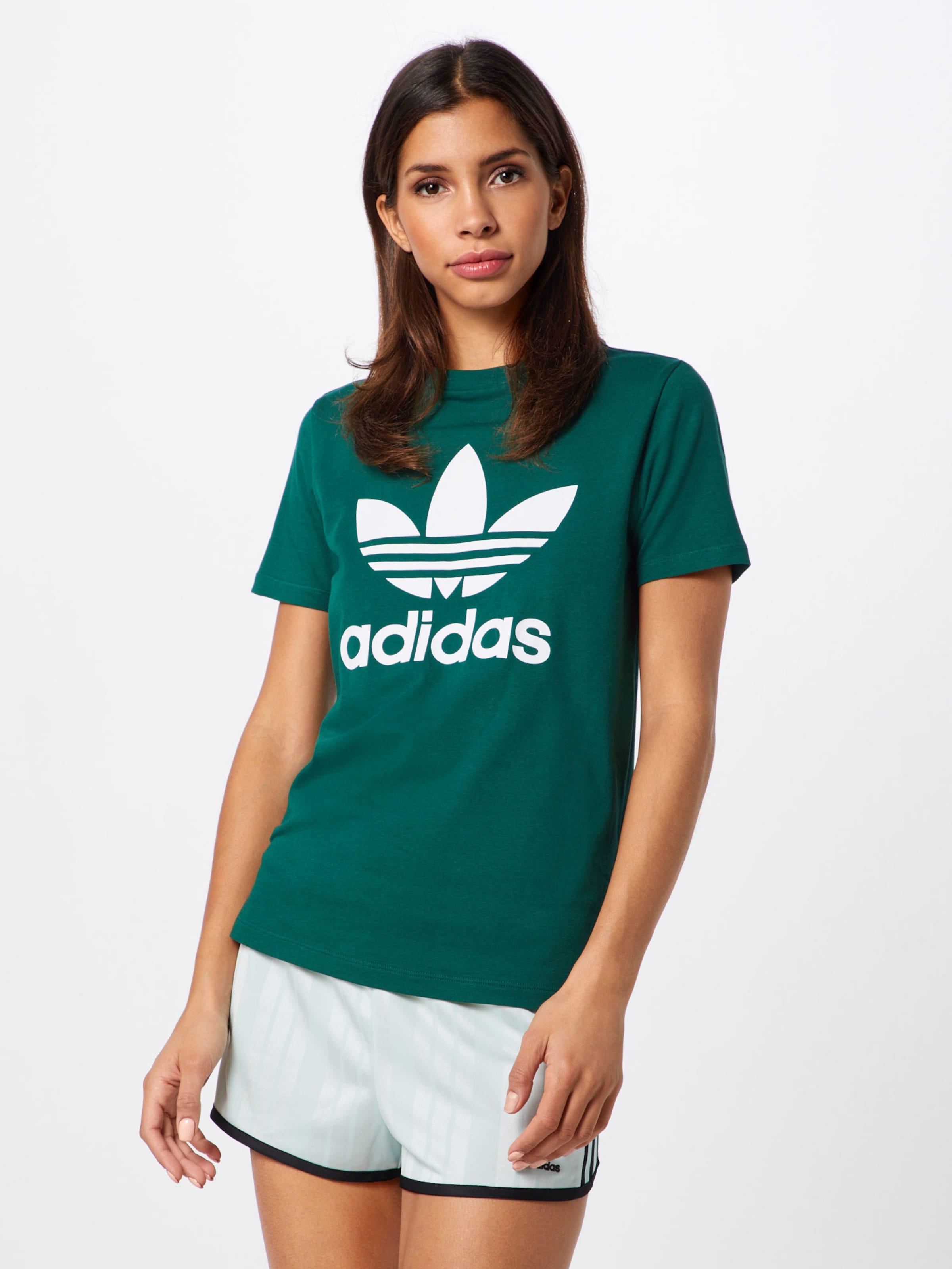 Adidas Originals Shirt In 'trefoil' GroenWit 8Pk0nXOw