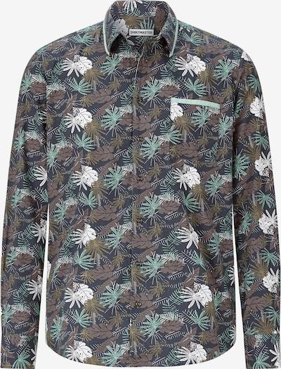 Shirtmaster Hemd ' Jungletour ' in türkis / braun / grün, Produktansicht