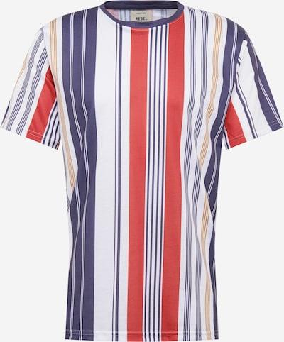 Redefined Rebel T-Shirt in blau / rot / weiß, Produktansicht