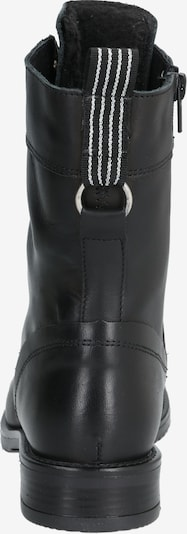 PS Poelman Škornji z vezalkami | črna barva: Pogled od zadnje strani