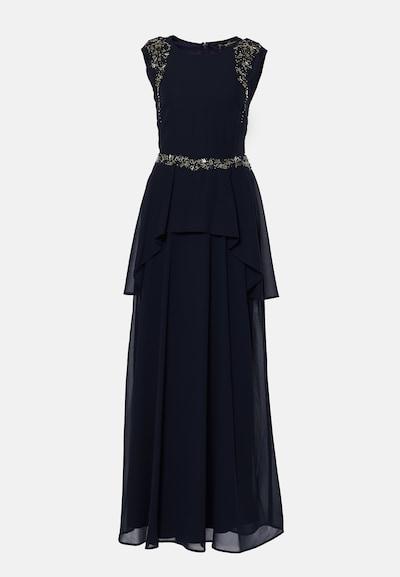 Young Couture by BARBARA SCHWARZER Robe de soirée en bleu foncé: Vue de face
