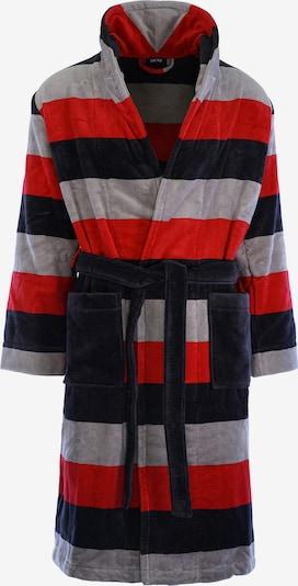 HOM Bademantel 'Fregat' in grau / rot / schwarz, Produktansicht