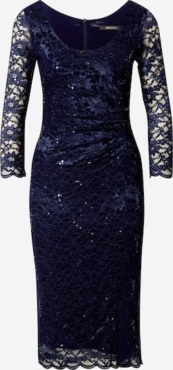 SWING Koktejlové šaty - marine modrá: Pohled zepředu