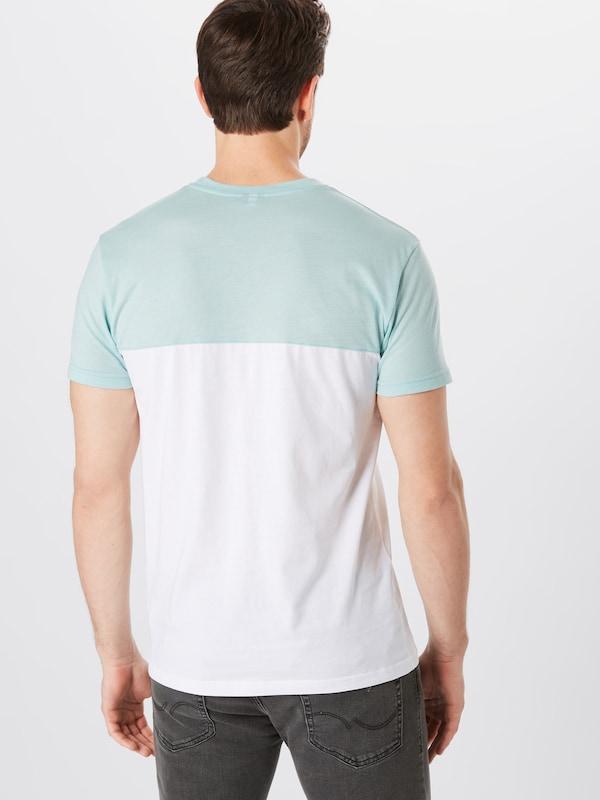 shirt 2 Tee' T Pocket Iriedaily Blanc 'block PastelMenthe En Jaune EH2IYeWD9b