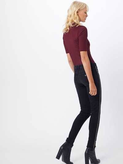 GUESS Jeggings en noir: Vue de dos