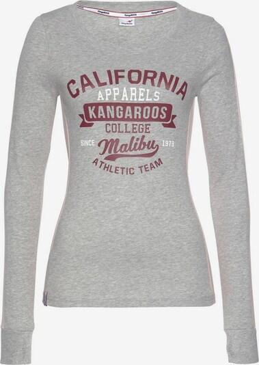 KangaROOS Shirt in graumeliert / pastellpink / kirschrot, Produktansicht