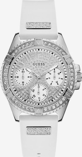 Analoginis (įprastinio dizaino) laikrodis 'FRONTIER' iš GUESS , spalva - Sidabras / balta, Prekių apžvalga