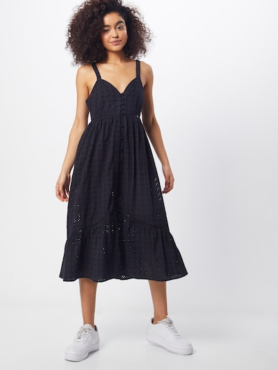Superdry Kleid 'DAISY MIDI DRESS' in schwarz, Modelansicht