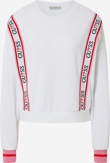 GUESS Sweat-shirt 'CLEMENCE' en rose / rouge / noir / blanc: Vue de face
