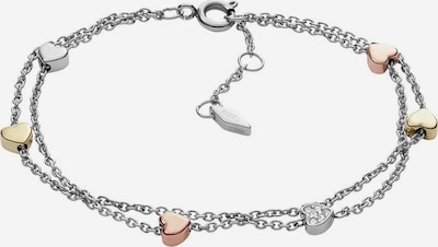 FOSSIL Armband 'Herzen JF02854998' in gold / rosegold / silber: Frontalansicht
