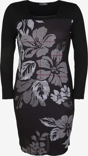 Doris Streich Strickkleid mit Karree-Ausschnitt in basaltgrau / mischfarben / schwarz, Produktansicht