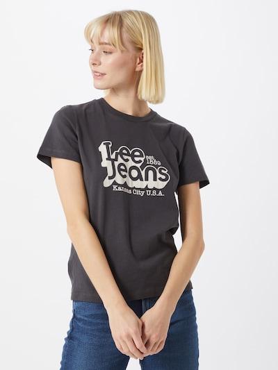 Lee T-shirt en noir: Vue de face