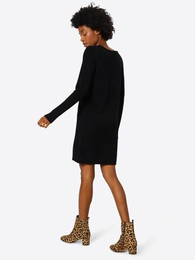 VILA Strickkleid in schwarz: Rückansicht