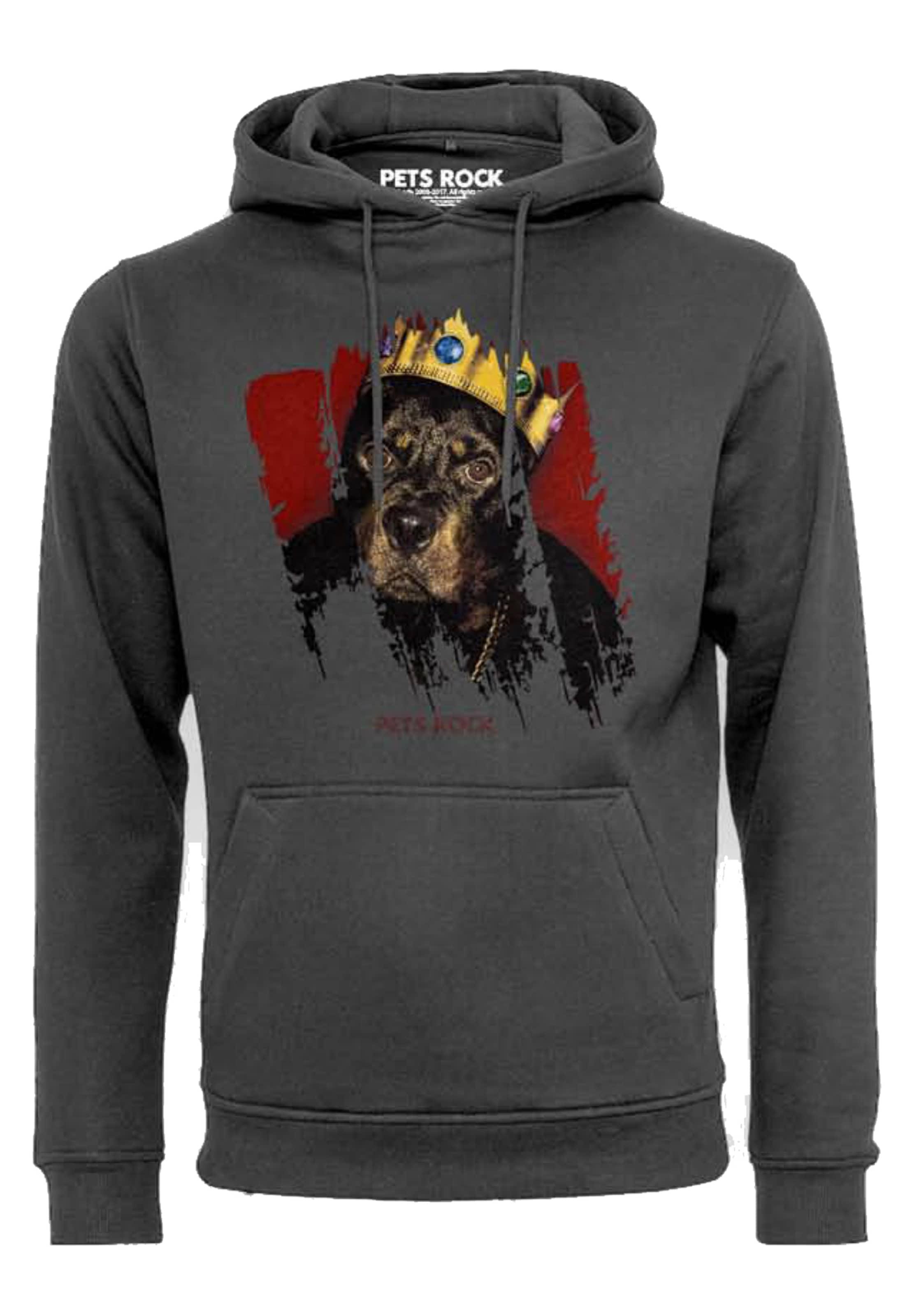 In Tee Mister Hoody 'petsrock Big Doggie' BasaltgrauMischfarben CxBdoe