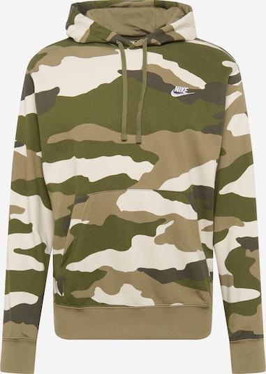 Nike Sportswear Sweatshirt in braunmeliert / oliv / schwarz / weiß, Produktansicht