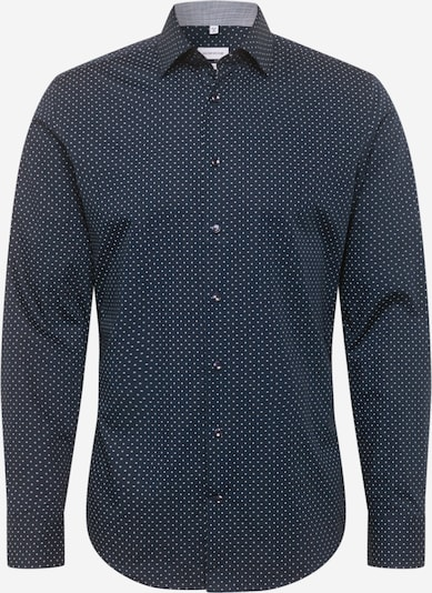 SEIDENSTICKER Hemd in dunkelblau / weiß, Produktansicht
