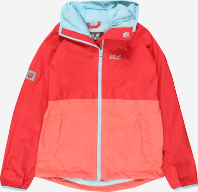 JACK WOLFSKIN Functionele jas 'RAINY DAYS' in de kleur Turquoise / Zalm roze / Rood, Productweergave