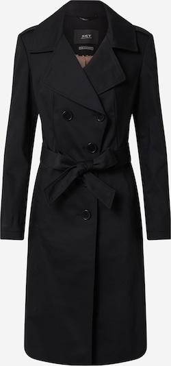 SET Mantel in schwarz: Frontalansicht
