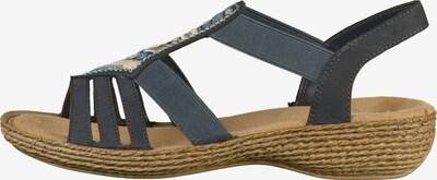 RIEKER Sandalen in mischfarben: Frontalansicht