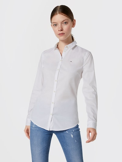 Tommy Jeans Bluse in weiß: Frontalansicht