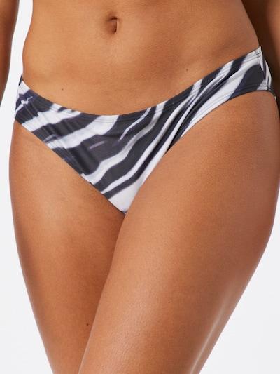 Hunkemöller Bas de bikini 'Zebra Regular Rio' en noir, Vue avec modèle