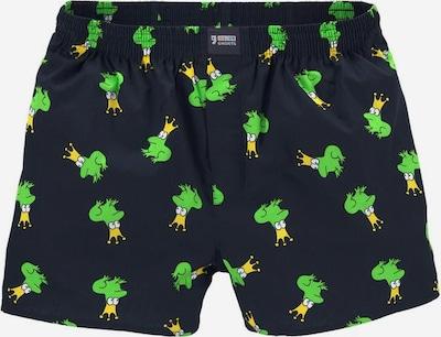 Happy Shorts Boxershorts 'Frosch' in dunkelblau / gelb / grün, Produktansicht