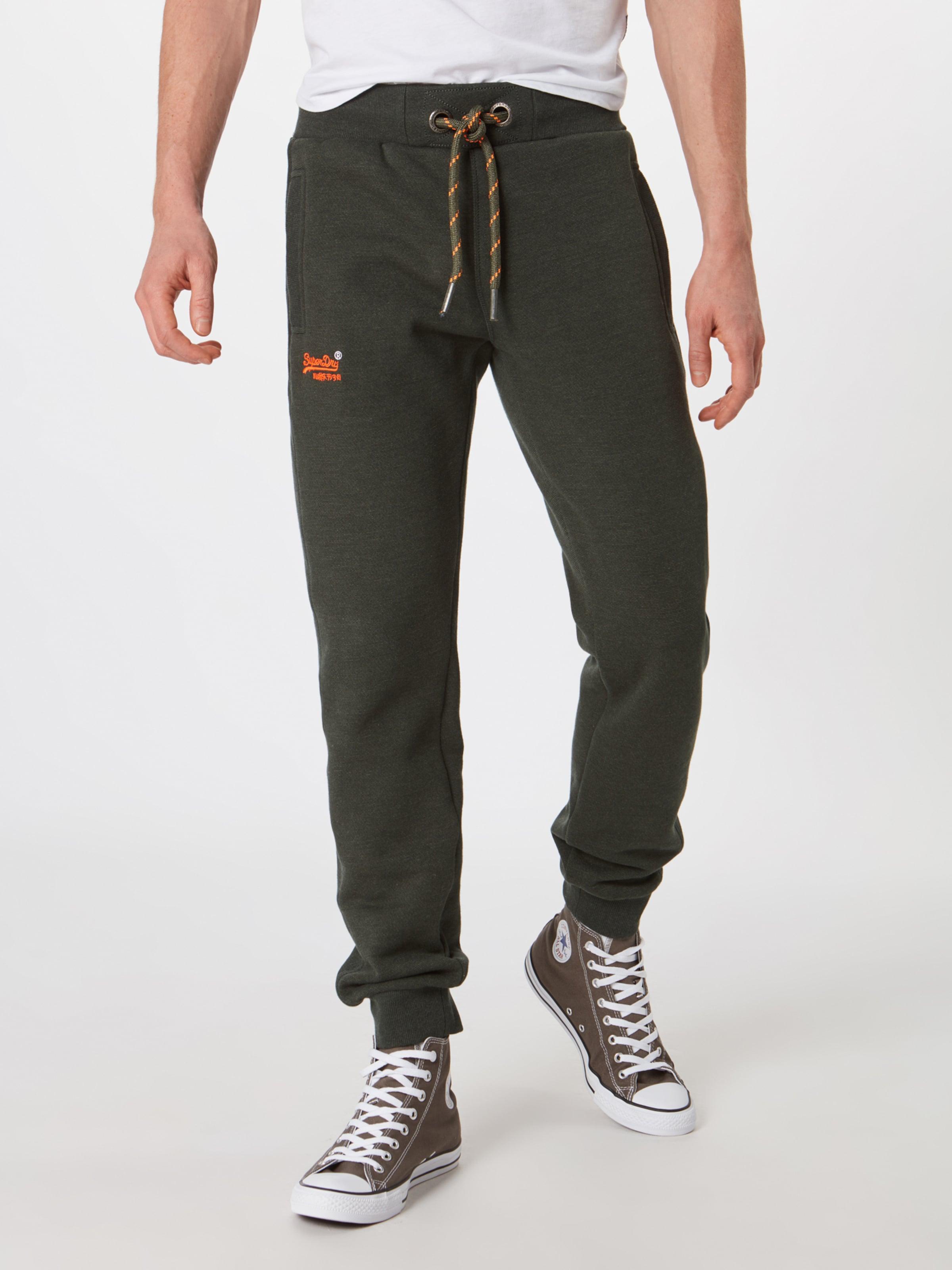 Anthracite 'orange Superdry Pantalon Label Cuffed Jogger' En shQrtdC