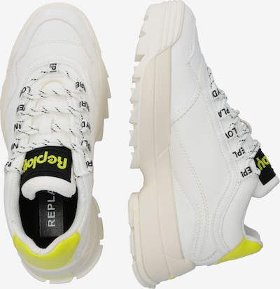 REPLAY Baskets basses en jaune / blanc: Vue de profil