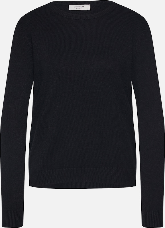 JACQUELINE de YONG Pullover 'MARCO' in schwarz: Frontalansicht