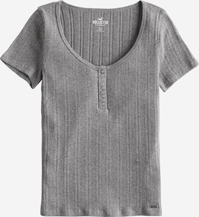 HOLLISTER Shirt 'SS VAR RIB HENLEY' in grau, Produktansicht