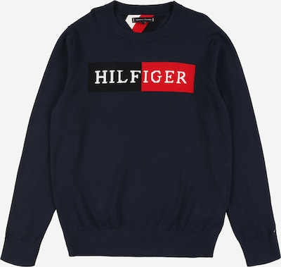 TOMMY HILFIGER Sweatshirt 'ESSENTIAL TH LOGO SWEATER' in navy, Produktansicht